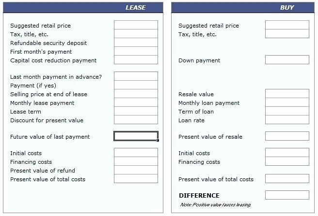 Lease Payment Calculator Excel Template Inspirational Lease Calculator Spreadsheet Lease Amortization Schedule