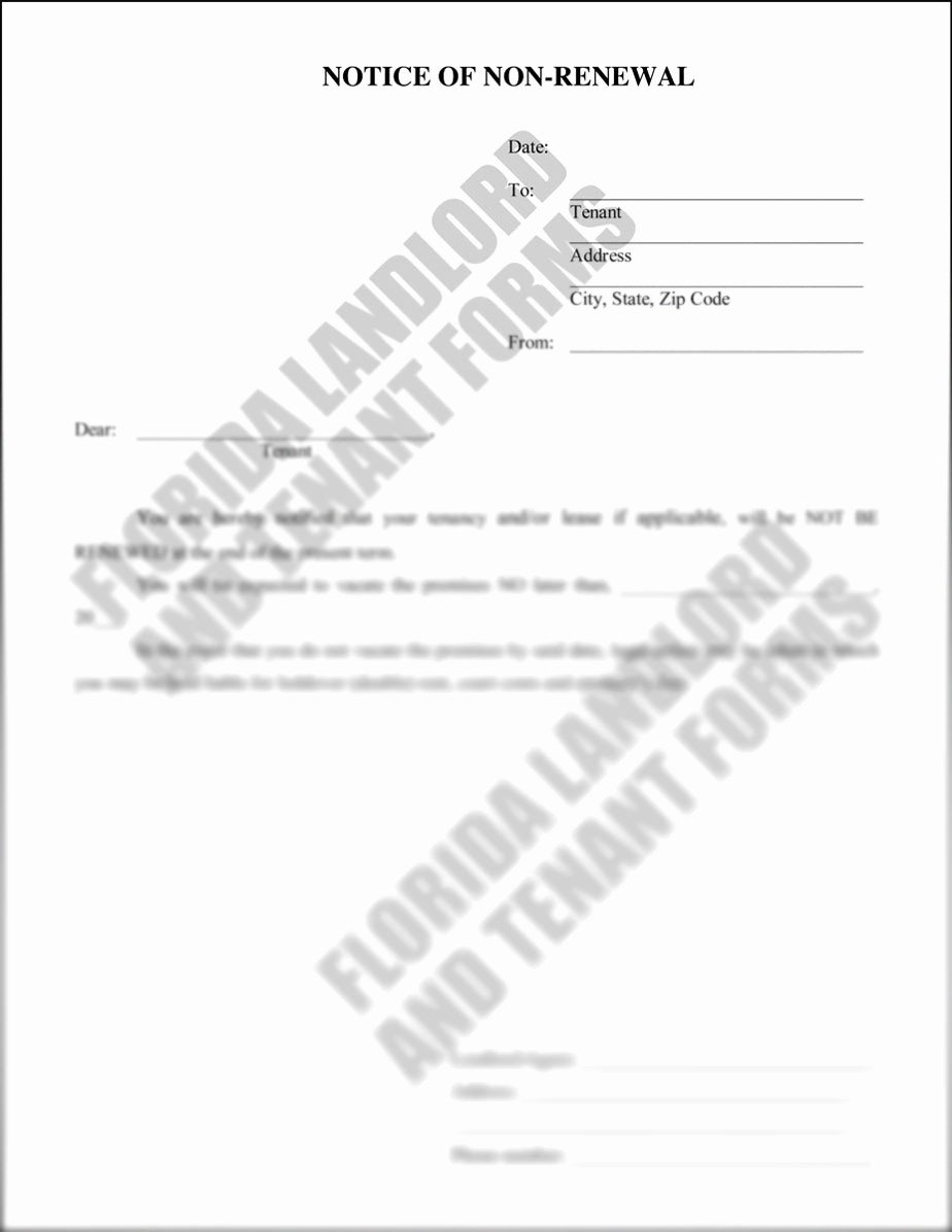 Lease Renewal Notice to Tenant Awesome Landlord Letter to Tenant Not Renewing Lease Hashtag Bg