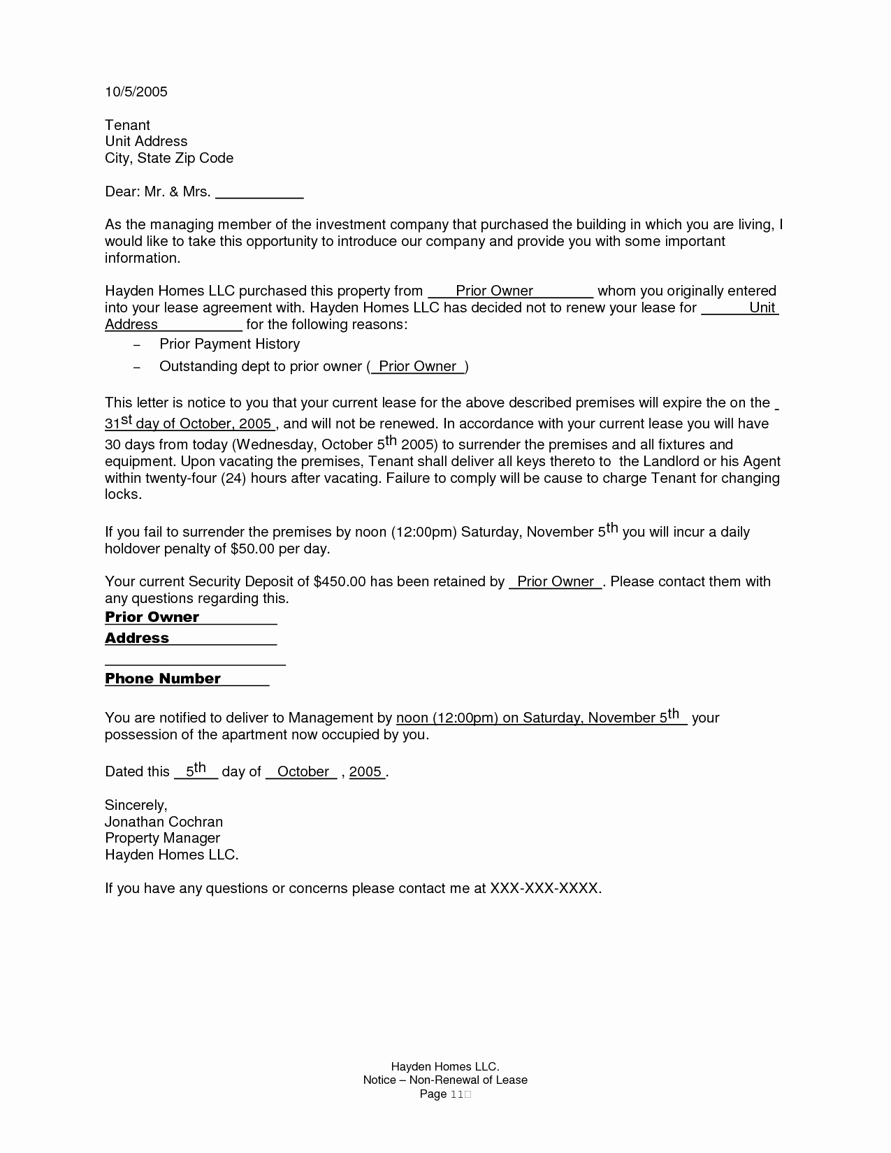Lease Renewal Notice to Tenant Beautiful Renewal Notice Letter Sample
