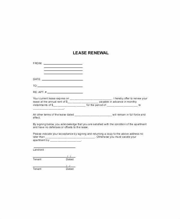 Lease Renewal Notice to Tenant Best Of Lease Agreement Letter Tenancy Renewal Template This is