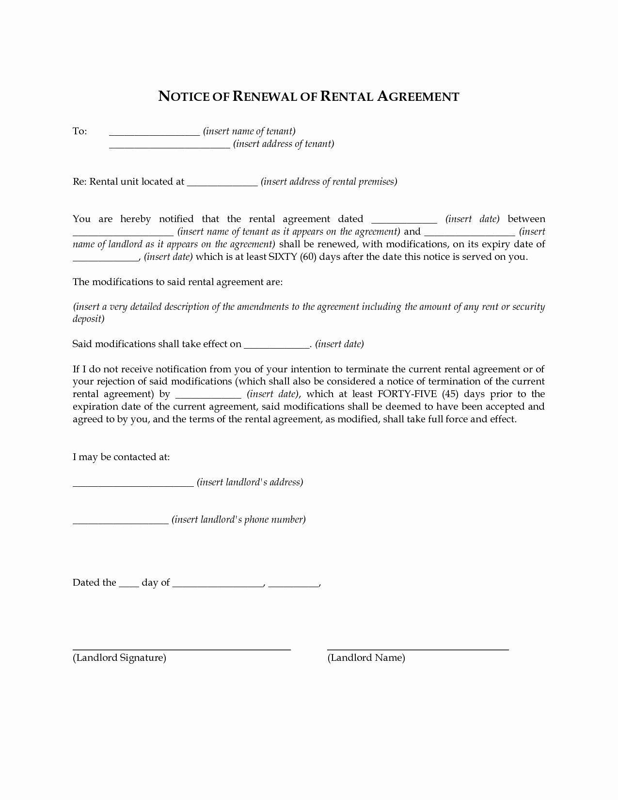 Lease Renewal Notice to Tenant Best Of Letter Intent to Renew Lease Template New Lease Renewal