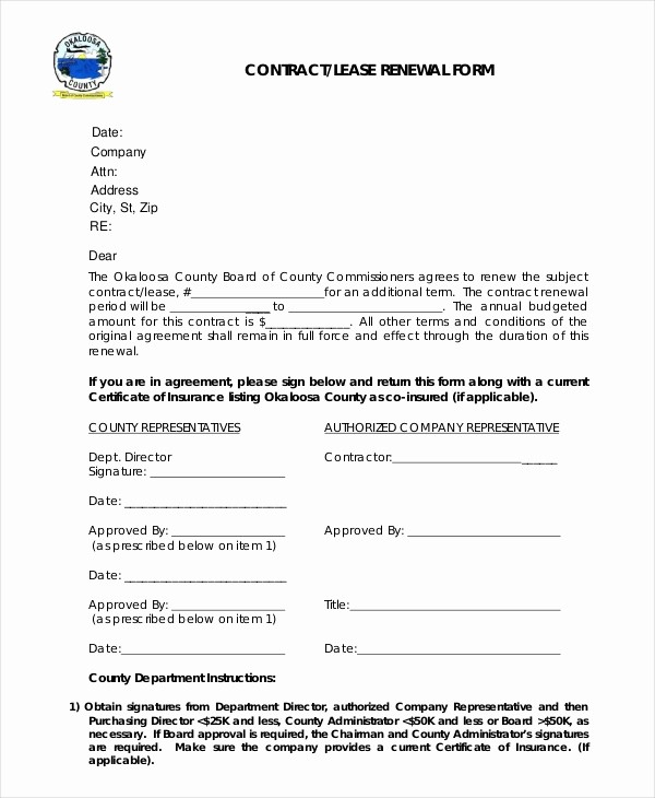 Lease Renewal Notice to Tenant Fresh Sample Lease Renewal forms 10 Free Documents In Pdf Doc