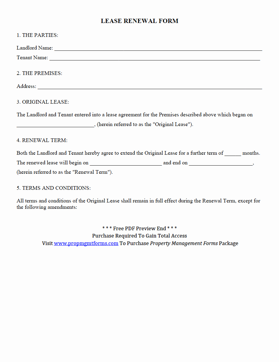Lease Renewal Notice to Tenant Luxury Property Management forms