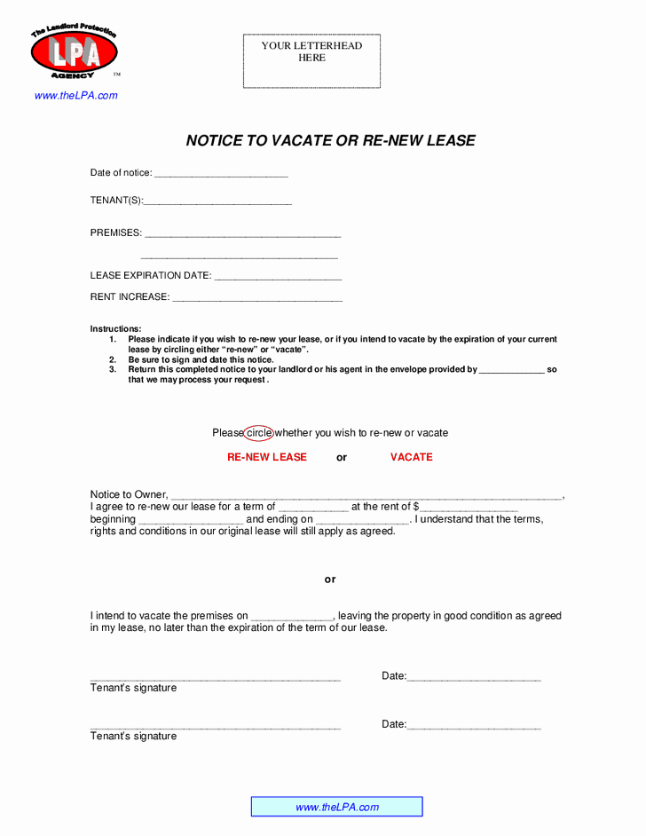 Lease Renewal Notice to Tenant New 13 Best Of Lease Expiration Notice Sample Lease