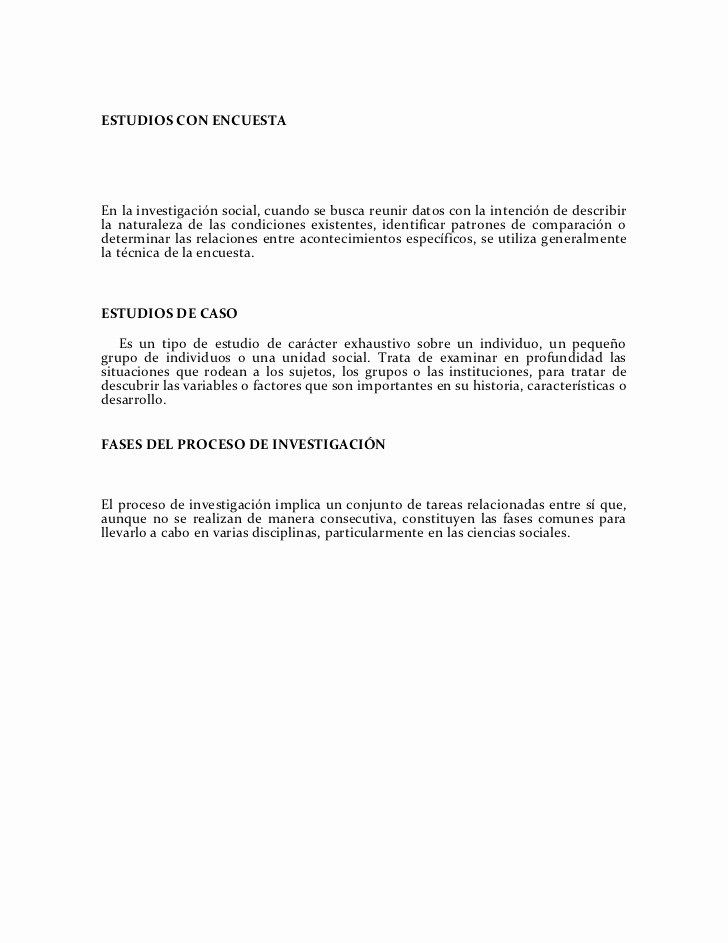Legal Memo to File Template Best Of Métodos Y Técnicas Para La Investigación