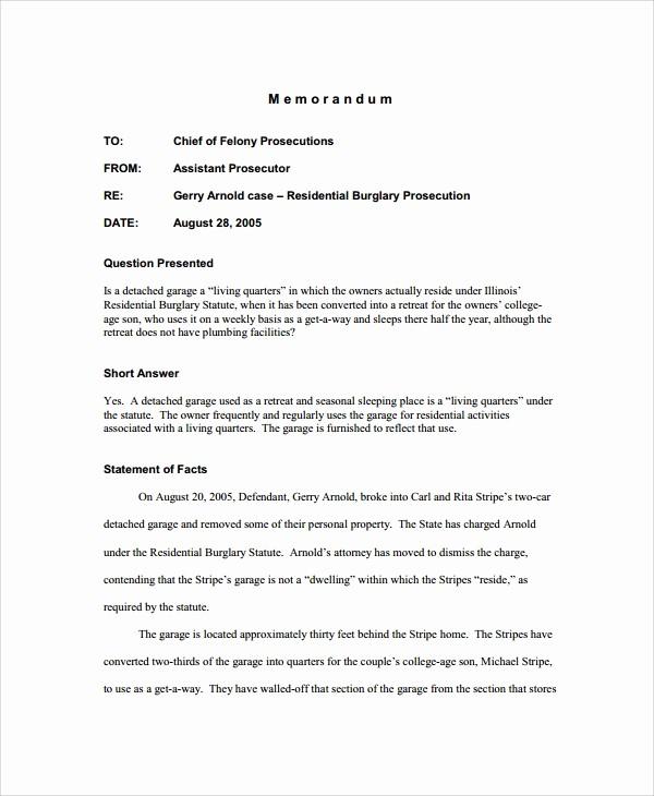 Legal Memo to File Template Elegant Sample Memo 20 Documents In Pdf Word