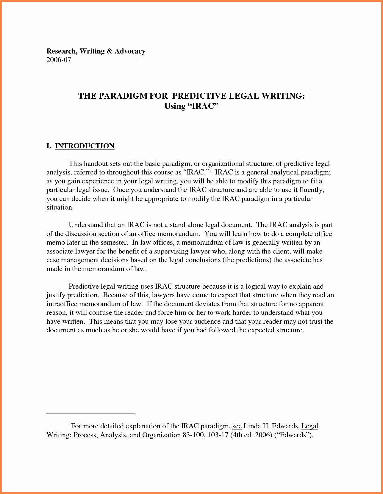 Legal Memo to File Template Lovely Legal Memo format Irac