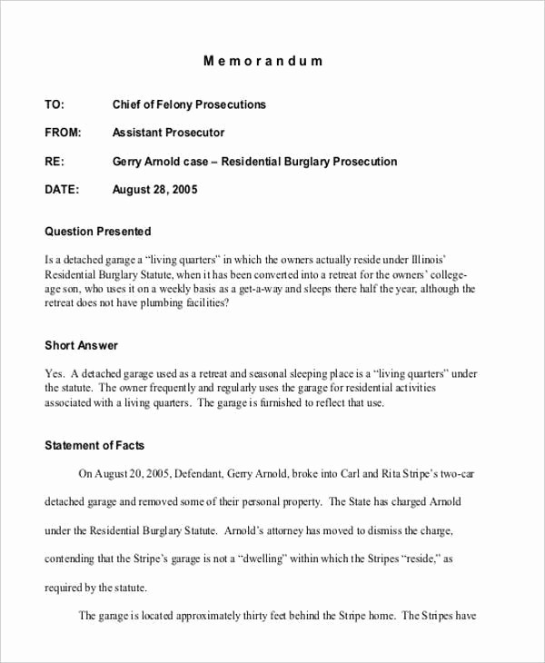 Legal Memo to File Template Luxury 8 Internal Memo Template – Examples In Word Pdf