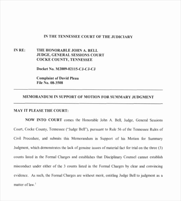 Legal Memo to File Template New Legal Motion Template 2018