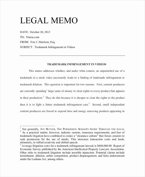 Legal Memo to File Template Unique 11 Legal Memo Examples Samples