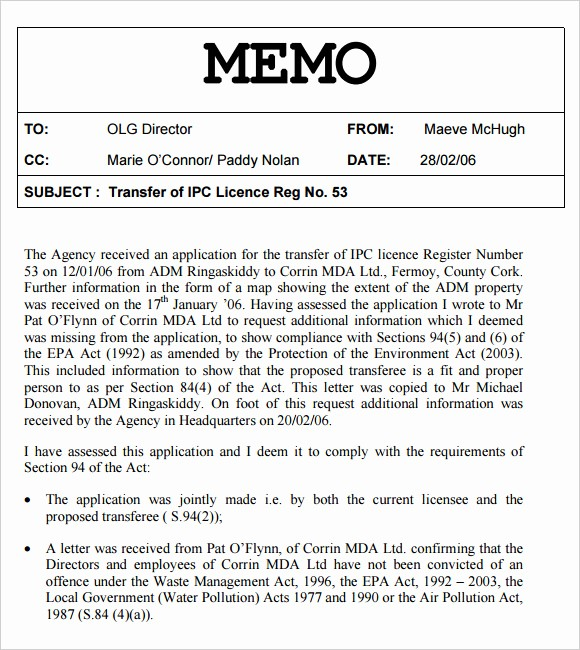 Legal Memo to File Template Unique 12 Internal Memo Templates