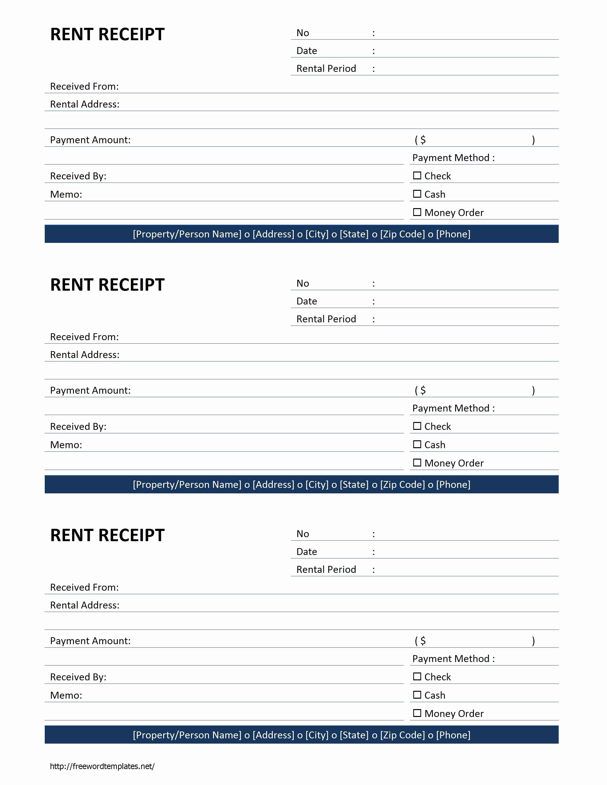 Legal Receipt for Cash Payment Fresh Rent Receipt Template