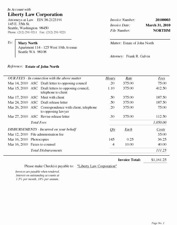 Legal Services Invoice Template Excel Elegant Legal Invoice Template