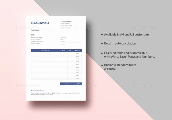 Legal Services Invoice Template Excel Fresh 30 Mercial Invoice Templates Word Excel Pdf Ai