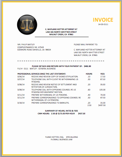Legal Services Invoice Template Excel New Legal attorney Invoice Template Invoice