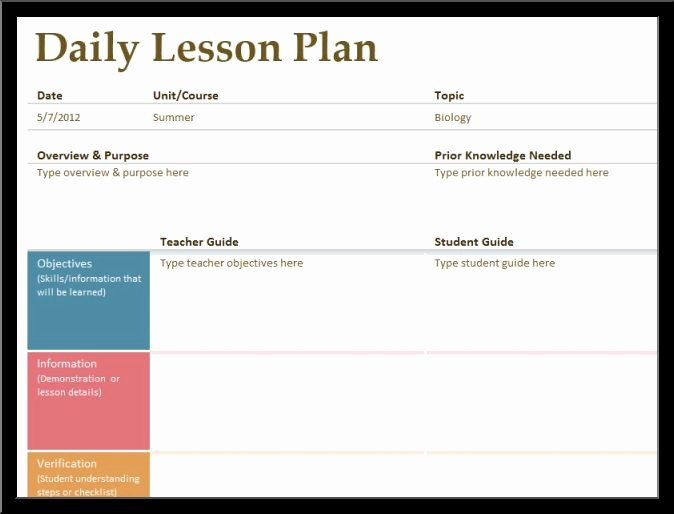 Lesson Plan for Microsoft Word Beautiful Lesson Plan Template Word