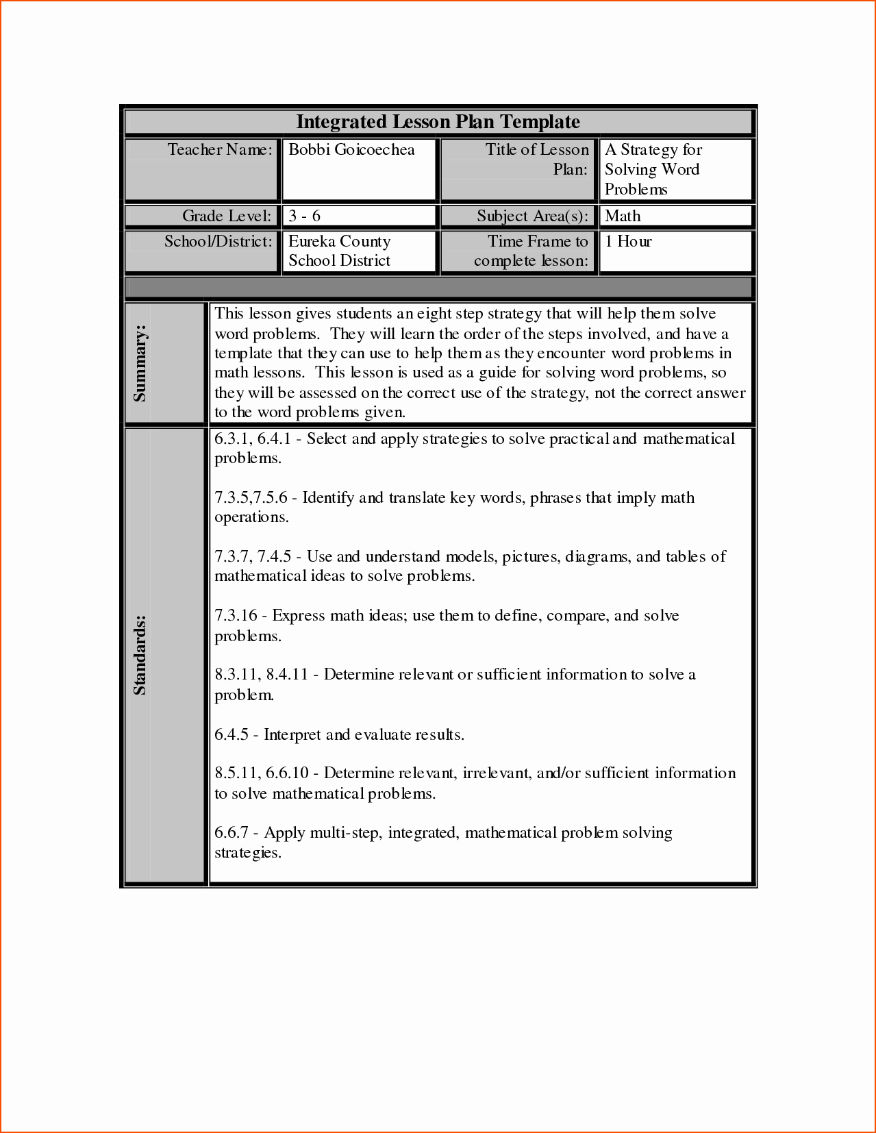 Lesson Plan for Microsoft Word Elegant 7 Lesson Plan Template Word Bookletemplate