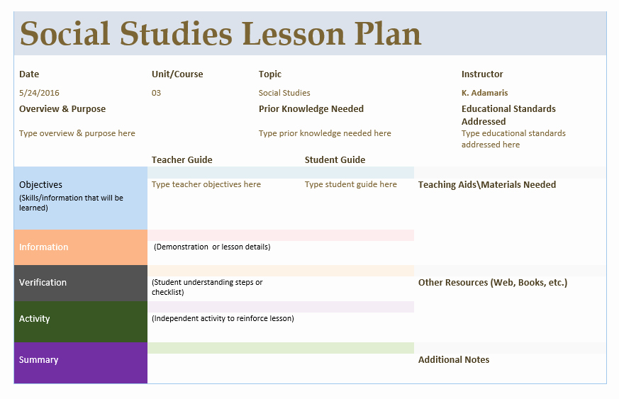 Lesson Plan for Microsoft Word Inspirational social Stu S Lesson Plan Template – Microsoft Word Templates