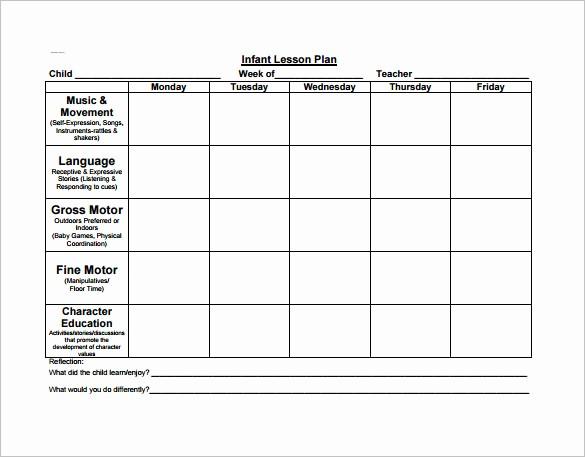 Lesson Plan for Microsoft Word Lovely 21 Preschool Lesson Plan Templates Doc Pdf Excel