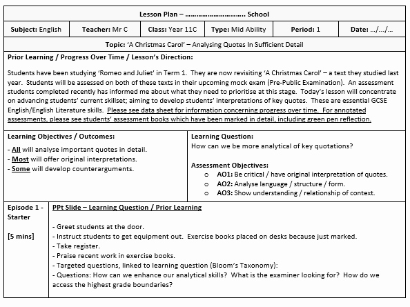Lesson Plan Template for Adults Beautiful Lesson Plan Template Pleted Example by Poetryessay