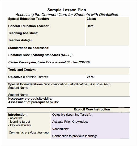 Lesson Plan Template for Adults Fresh Sample Lesson Plans for Adults Tube