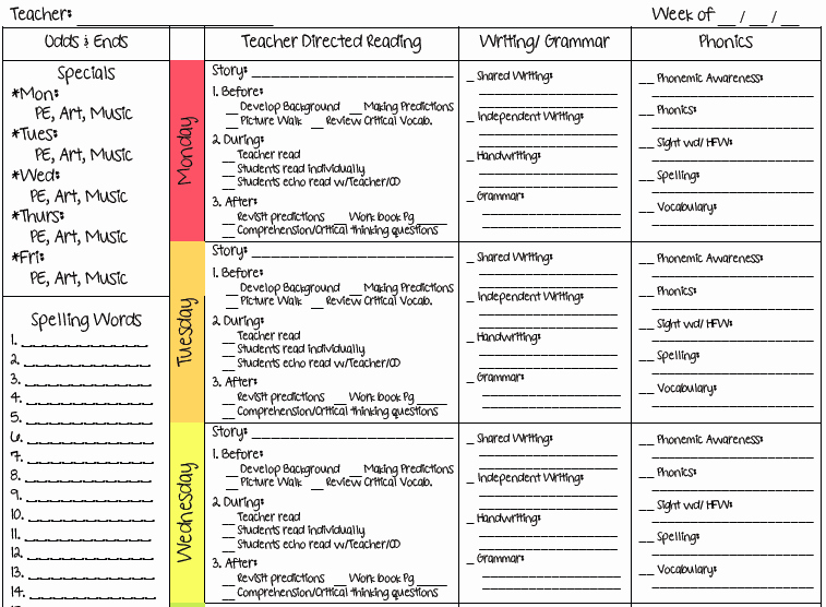 Lesson Plan Template for Teachers Luxury A Teacher S Plan Two New Lesson Plan Templates