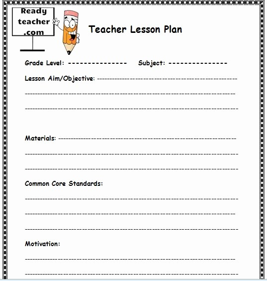 Lesson Plan Template for Teachers Luxury Lesson Plan İmages