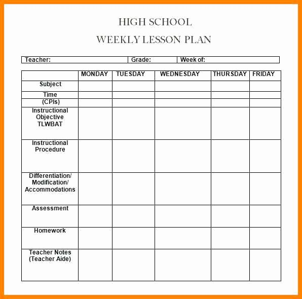 Lesson Plan Template Word Doc Beautiful 6 Editable Weekly Lesson Plan Template