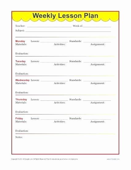 Lesson Plan Template Word Doc Fresh Editable Weekly Lesson Plan Template Pdf Preschool Word