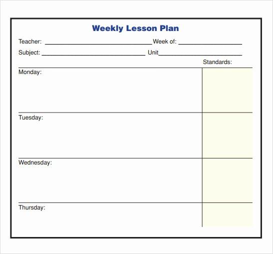 Lesson Plan Template Word Doc Unique 10 Sample Lesson Plans