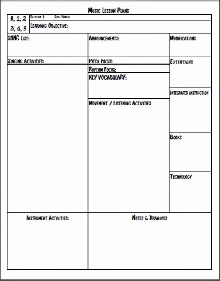 Lesson Plan Template Word Document Elegant Lesson Plan Template Doc