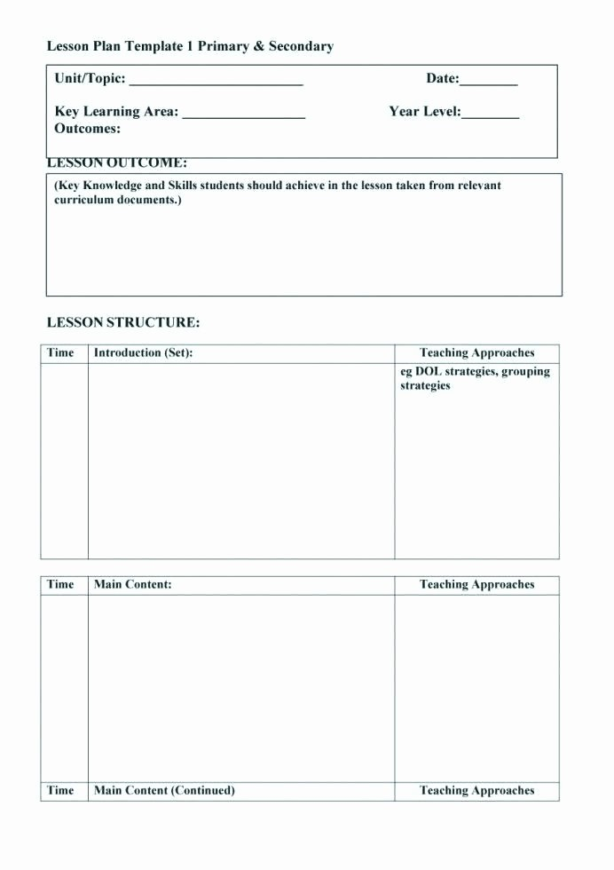Lesson Plan Template Word Document Fresh Unit Plan Template Word