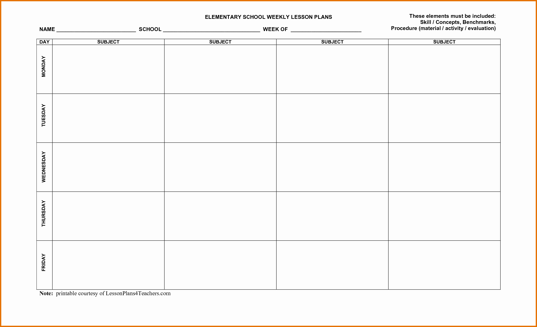 Lesson Plan Template Word Document Inspirational 3 Weekly Lesson Plan Template Wordreference Letters Words