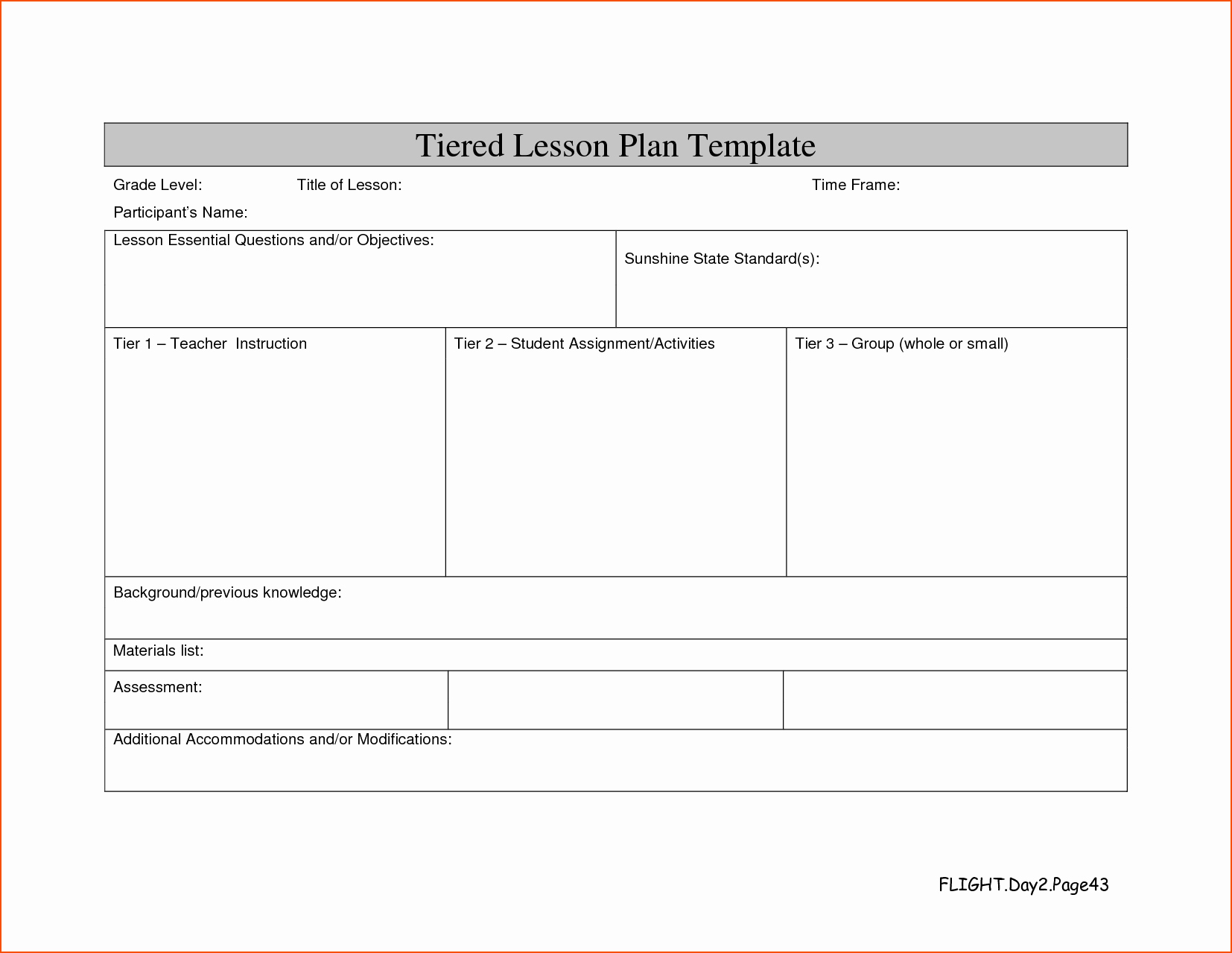 Lesson Plan Template Word Document Lovely Word Lesson Plan Template Portablegasgrillweber