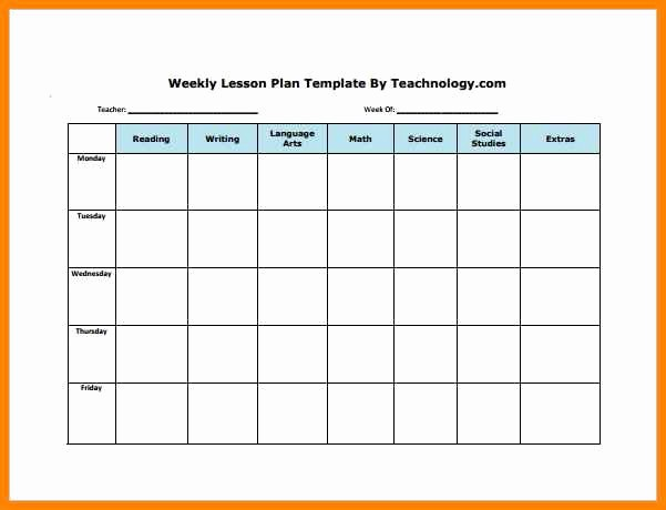 Lesson Plan Template Word Editable Awesome 6 Editable Weekly Lesson Plan Template