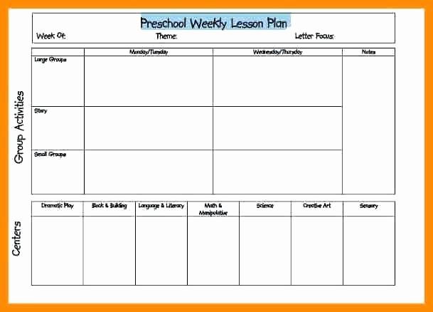 Lesson Plan Template Word Editable Fresh Editable Weekly Lesson Plan Template Word Preschool Free