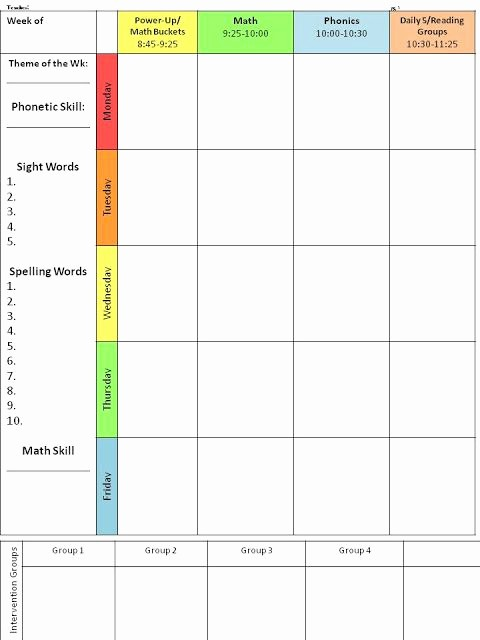 Lesson Plan Template Word Editable Fresh for the Love Of First Grade Back to School Lesson Plan