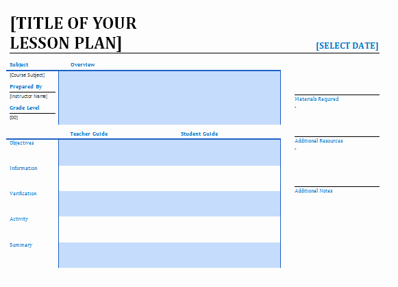 Lesson Plan Template Word Editable Fresh Lesson Plan Template Word Editable Free Download