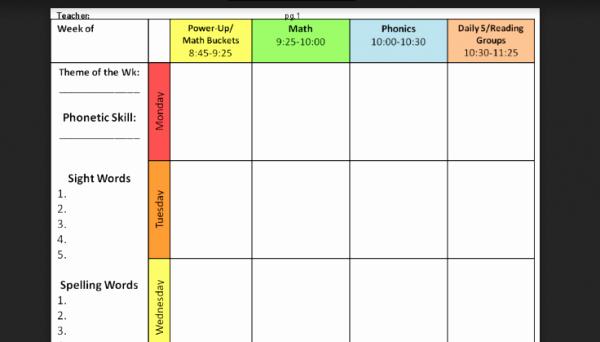 Lesson Plan Template Word Editable Inspirational 6 Free Editable Lesson Plan Templates for Teachers
