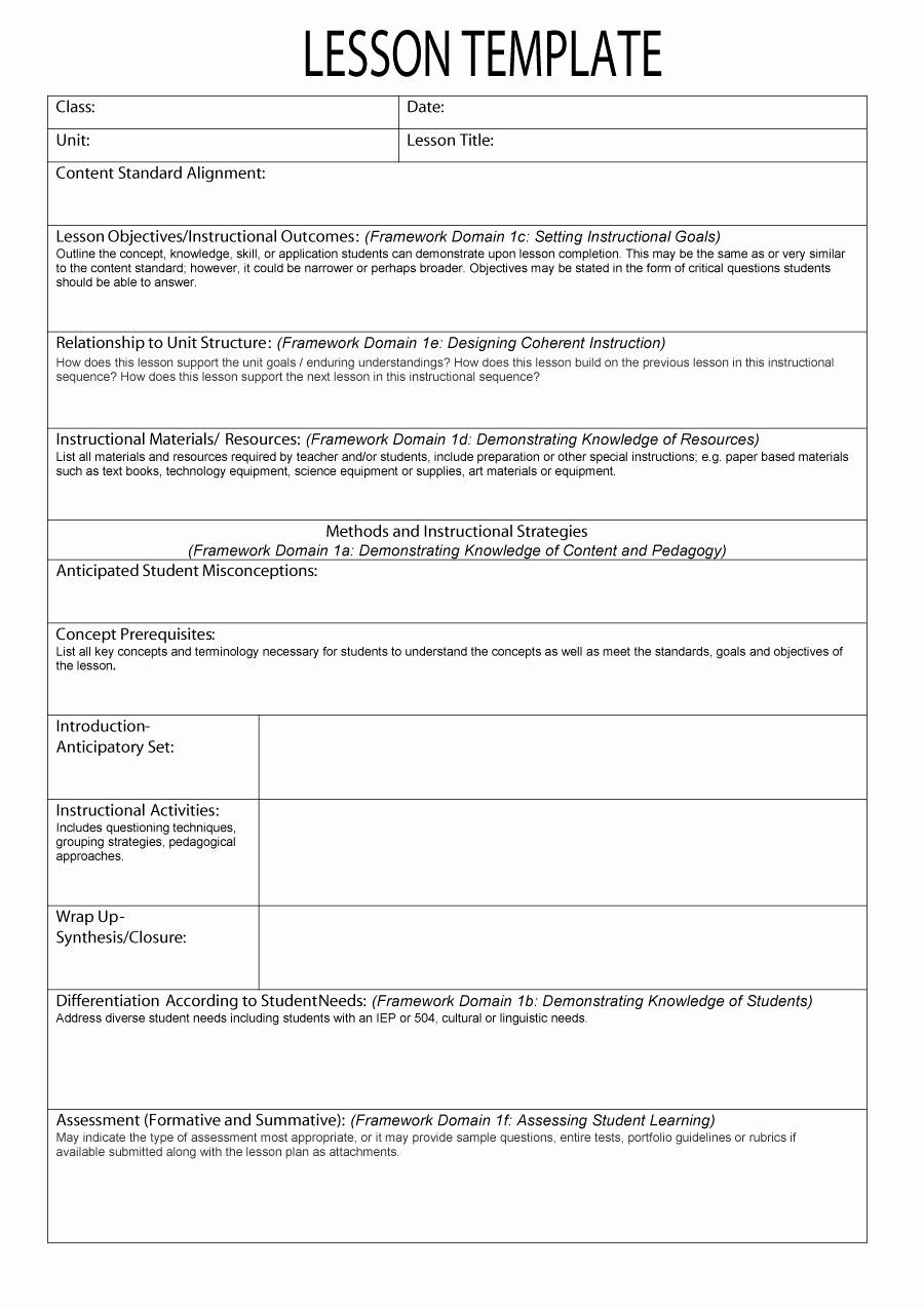 Lesson Plan Template Word Editable New 44 Free Lesson Plan Templates [ Mon Core Preschool Weekly]