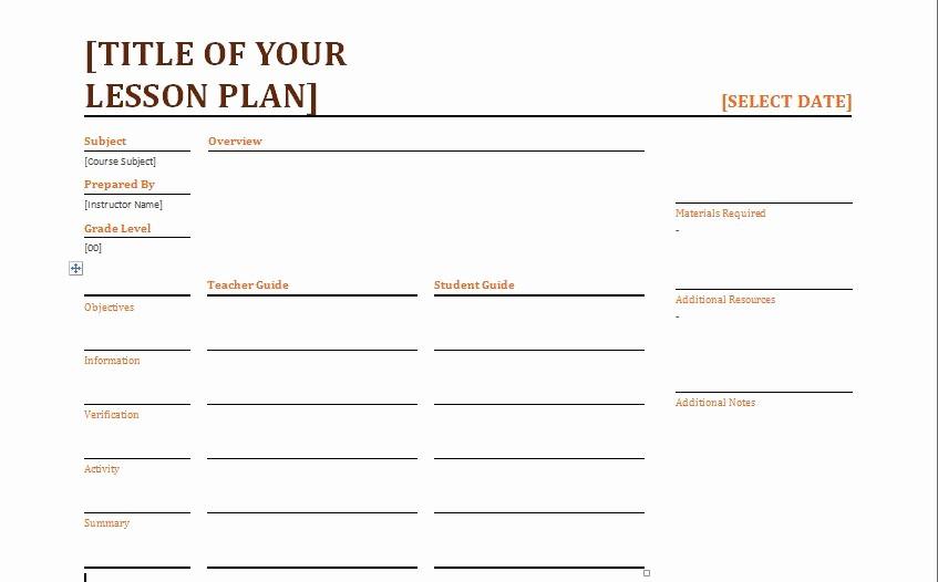 Lesson Plan Template Word Editable Unique Teacher Daily Lesson Planner Template