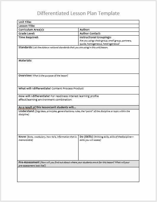 Lesson Plan Templates for Word Beautiful 39 Free Lesson Plan Templates Ms Word and Pdfs Templatehub
