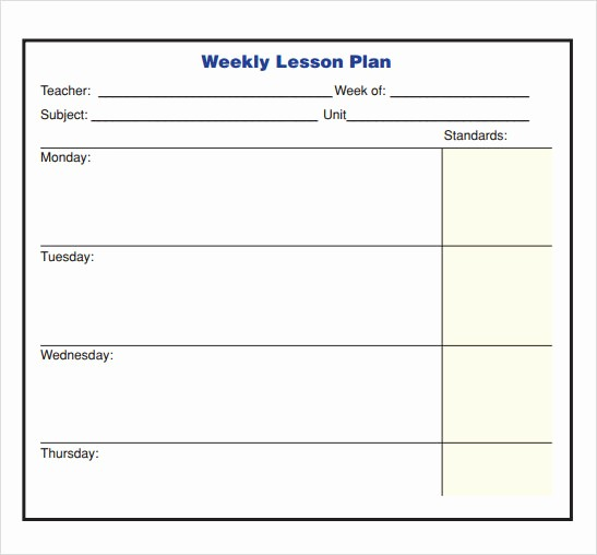 Lesson Plan Templates for Word Best Of 10 Sample Lesson Plans