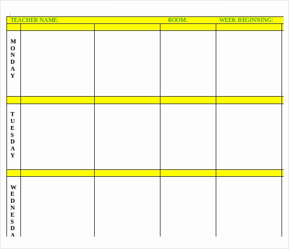 Lesson Plan Templates for Word Best Of 7 Printable Lesson Plan Templates to Download