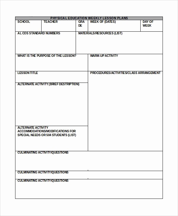 Lesson Plan Templates for Word Fresh 10 Lesson Plan Samples In Word