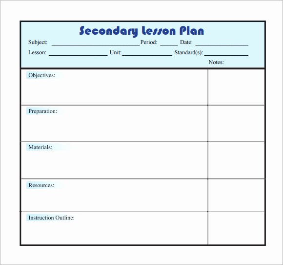 Lesson Plan Templates for Word Fresh 10 Sample Lesson Plans