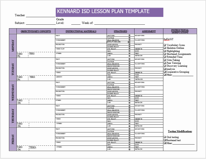 Lesson Plan Templates for Word Fresh 39 Free Lesson Plan Templates Ms Word and Pdfs Templatehub