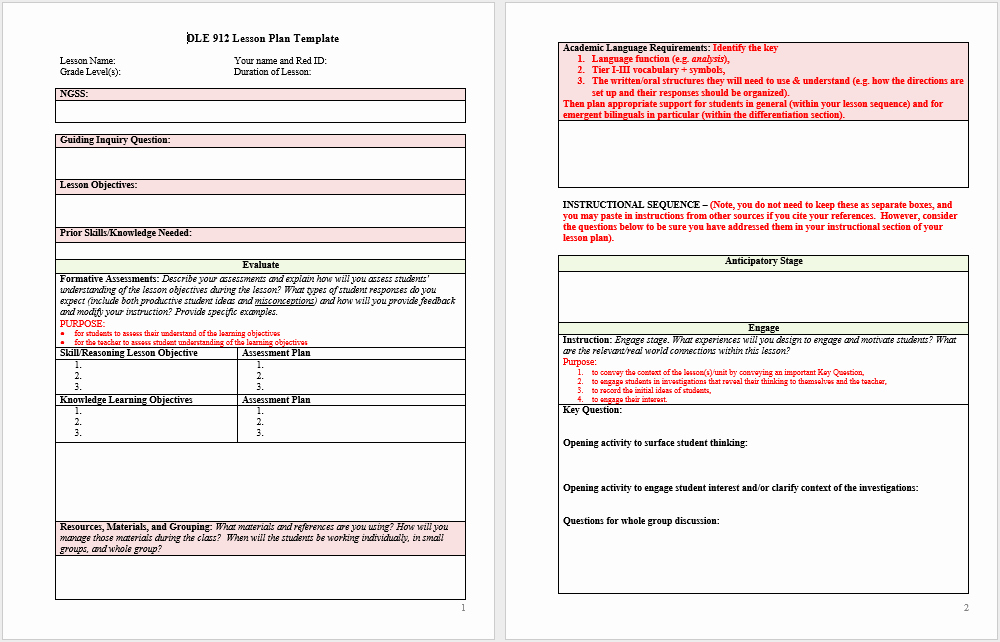 Lesson Plan Templates for Word Lovely 39 Free Lesson Plan Templates Ms Word and Pdfs Templatehub