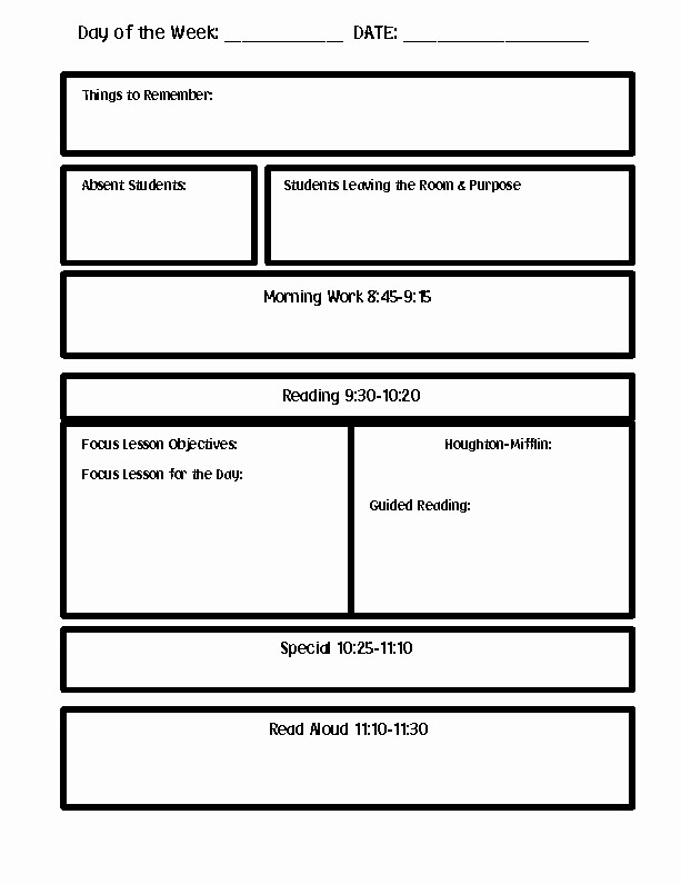 Lesson Plan Templates for Word Unique Lesson Plan Template Word