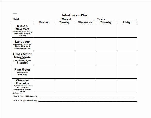 Lesson Plans for Microsoft Word Inspirational 21 Preschool Lesson Plan Templates Doc Pdf Excel
